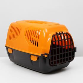 Переноска для животных  'Сириус', 33,5 х 31 х 50 см, цвет оранжевый Ош