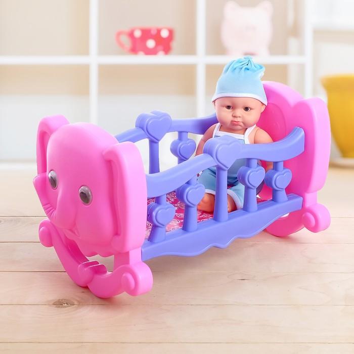 """Кровать для куклы """"Слон"""", с пупсом"""