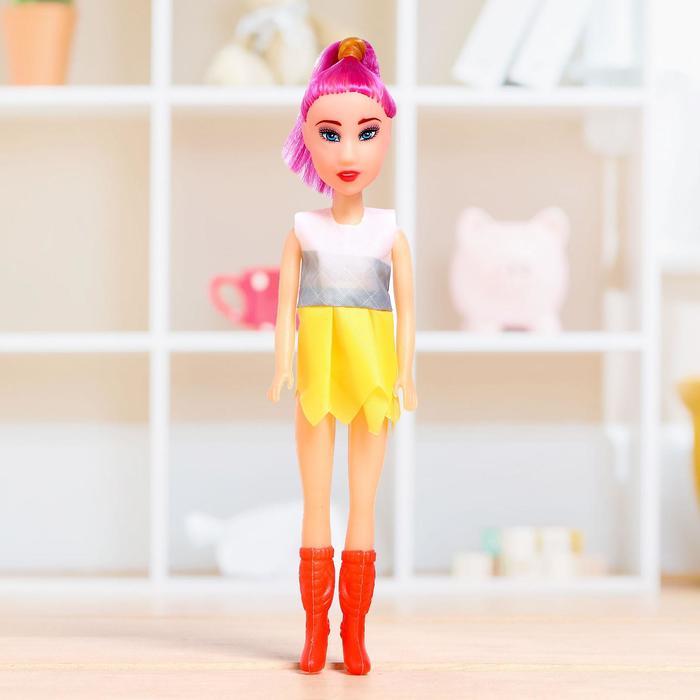 Кукла-модель Марина в цветном платье, МИКС