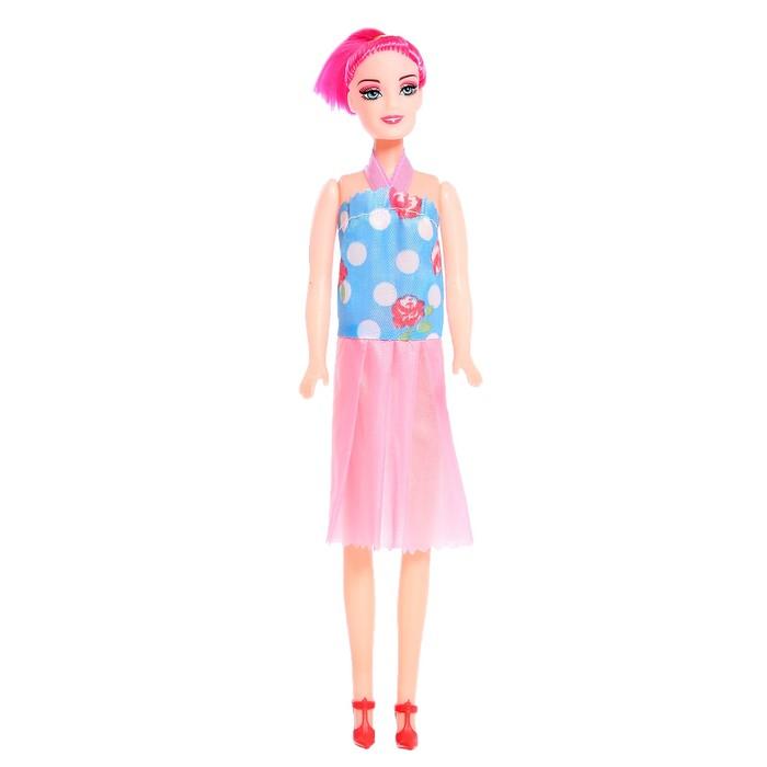 Кукла-модель Оленька в вечернем платье, МИКС