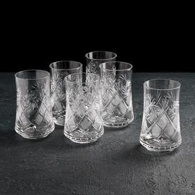 Набор стаканов для напитка НЕМАН «Мельница», 200 мл, 6 шт, хрусталь