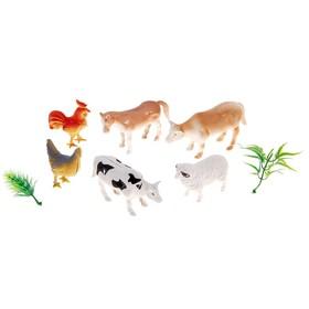 Набор животных «Домашние животные», 6 фигурок с аксессуарами Ош