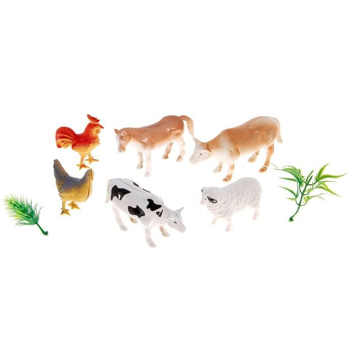 Набор фигурок животных Домашние животные, 6 штук, с аксессуарами
