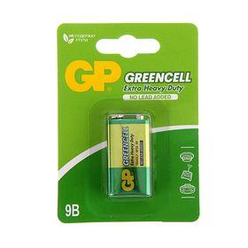 Батарейка солевая GP Greencell Extra Heavy Duty, 6F22-1BL, 9В, крона, блистер, 1 шт.