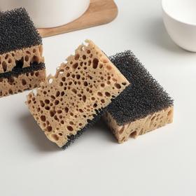 Набор губок кухонных «Бубблер», 9,6×6,4×3,3 см, 4 шт