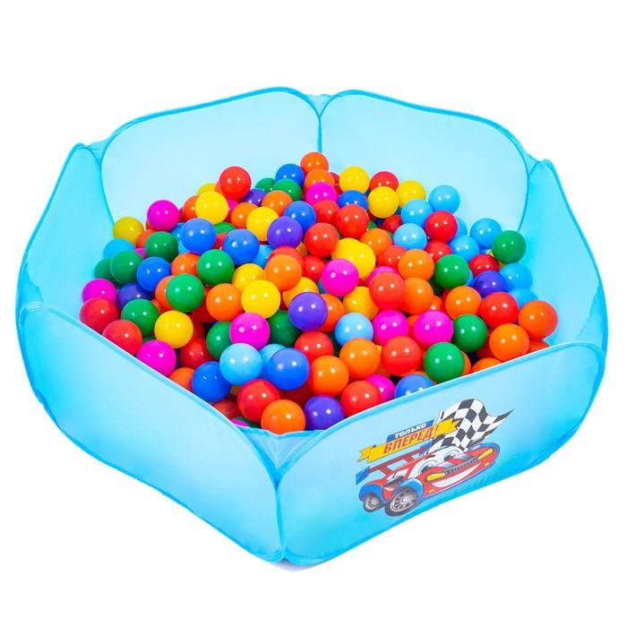 Шарики для сухого бассейна с рисунком, диаметр шара 7,5 см, набор 90 штук, разноцветные