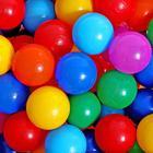 Шарики для сухого бассейна с рисунком, диаметр шара 7,5 см, набор 60 штук, разноцветные - Фото 9