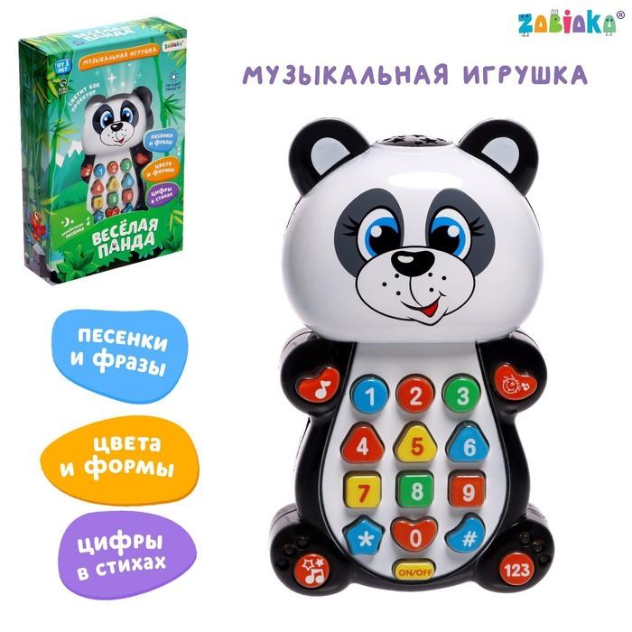 Игрушка музыкальная обучающая «Панда», с проектором, работает от батареек
