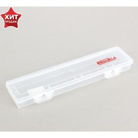 Пенал для кистей, футляр пластиковый, 350 x 85 x 35 мм, «Стамм», прозрачный Ош
