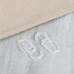 Крючок для штор, на кольцо, 25 × 15 мм, цвет прозрачный Ош
