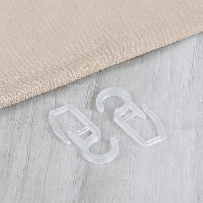 Крючок для штор, на кольцо, 2,5 × 1,5 см, цвет прозрачный