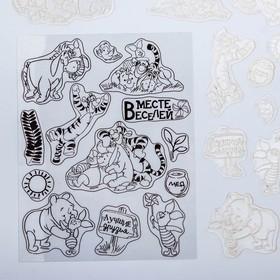 Штампы для творчества 'Вместе веселей', Медвежонок Винни, 14 х 18 см Ош
