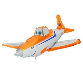 """Шар фольгированный 12"""" «Самолёт» для палочки, цвет оранжевый"""