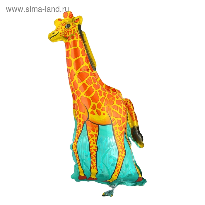 """Шар фольгированный 12"""" """"Жираф"""" для палочки, цвет оранжевый"""