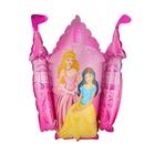 """Шар фольгированный 12"""" """"Принцессы и замок"""" для палочки, цвет розовый"""