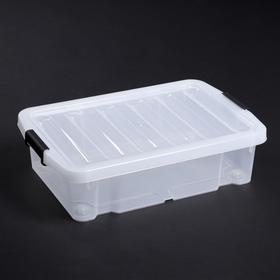 Контейнер для хранения с крышкой Basic Type, 30 л, 58×39,5×17,5 см