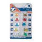 Предохранители флажковые Nova Bright Micro, низкие, набор 10 шт