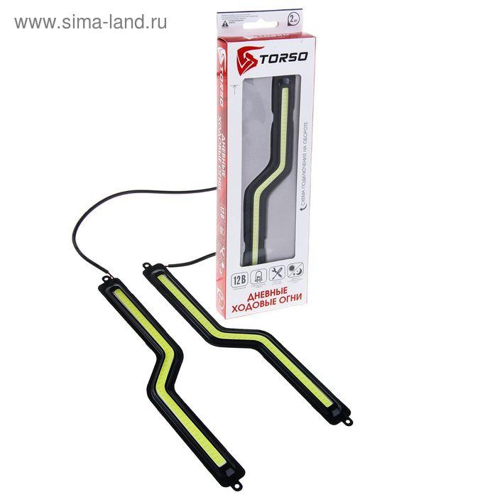 Дневные ходовые огни TORSO DRL-1-7, 1 LED-COB, 12 Вт, 12 В, 2 шт., металл, корпус черный