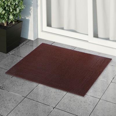 Покрытие ковровое щетинистое «Травка», 60×90 см, цвет тёмный шоколад - Фото 1