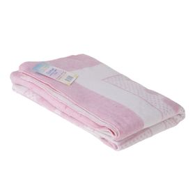 Одеяло жаккардовое 'Барни', размер 100х140 см, хлопок, цвет белый/розовый Ош