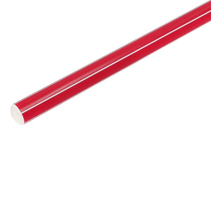 Палка гимнастическая 80 см, цвет красный