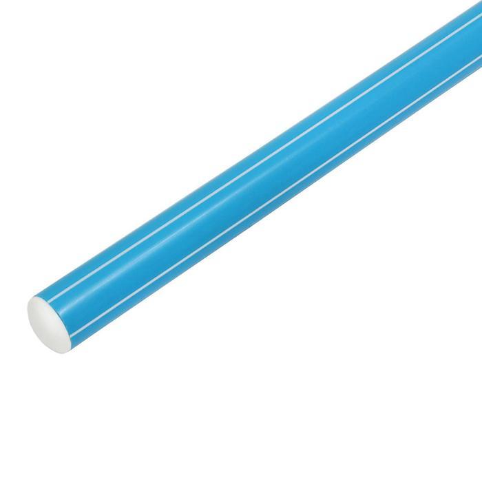 Палка гимнастическая 70 см, цвет: голубой