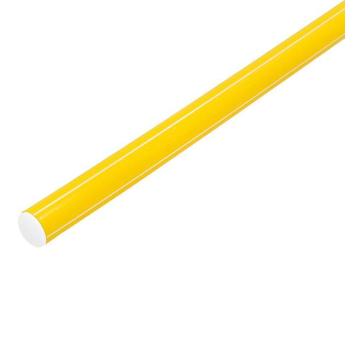 Палка гимнастическая 70 см, цвет: желтый