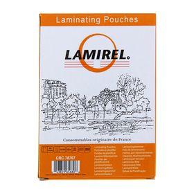 Пленка для ламинирования 100 шт. Lamirel 85 х 120 мм, 125 мкм Ош