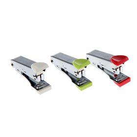 Степлер №10, до 10 листов, Kangaro Sleek-10, металлический корпус, встроенный антистеплер, 50 скоб, МИКС
