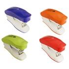 Степлер №24/6 и 26/6 15 листов Kangaro mini Trendy 45М встроенный антистеплер, 50 скоб, МИКС