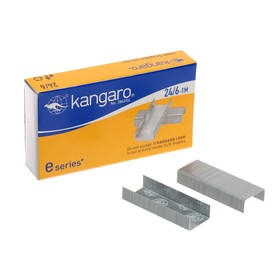 Скобы для степлера №24/6 Kangaro стальные, 1000 штук
