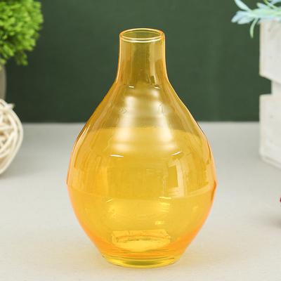 "Ваза ""Кенди"" луковка малая оранжевая d-2см, 12,5х8 см, 0,3л  2651 - Фото 1"