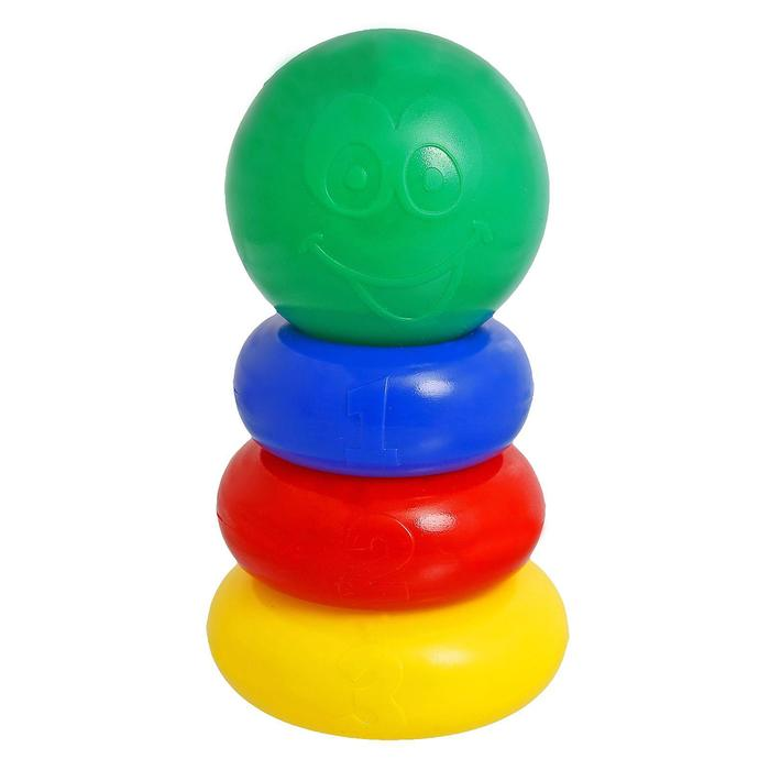 Пирамидка, 3 кольца с шаром