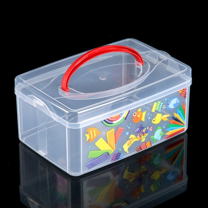 Контейнер для хранения с ручкой Народные промыслы, 24,51610,8 см, цвет МИКС