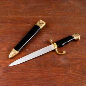 Сувенирный нож, 35 см, на рукояти птицы, ножны чёрно-золотые Ош