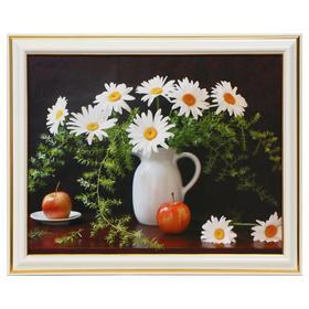 Картина 'Ромашки с яблоками' Ош