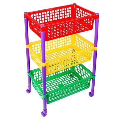Контейнер для игрушек «Светофор», на колёсиках - Фото 1