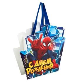 Пакет-открытка 'С Днем Рождения', Человек-паук Ош
