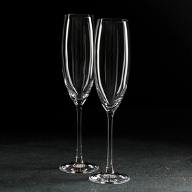 Набор бокалов для шампанского Bohemia Crystal «Грандиосо», 230 мл, 2 шт