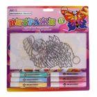 Набор витражных красок: 2 витража-брелка, 6 цветов по 10,5 мл
