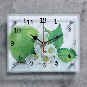 """Часы настенные, серия: Кухня, """"Яблоко"""",микс 20х25 см"""