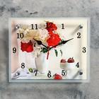 "Часы настенные, серия: Цветы, ""Цветы в вазе"", микс 20х25 см"