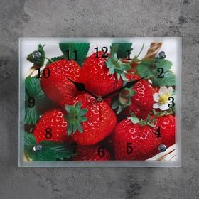 """Часы настенные, серия: Кухня, """"Клубника"""", 20х25  см, микс"""