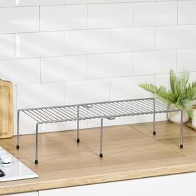 Полка раздвижная для шкафа, 36(62)×22×15 см, цвет хром