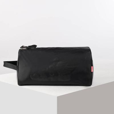 Сумка для обуви, отдел на молнии, цвет чёрный - Фото 1