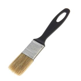 "Кисть плоская ""АКОР"" Евро, 25х8 мм, ручка пластик, натуральная щетина"