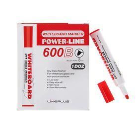 Маркер для доски 3.0 мм, Line Plus 600B, красный