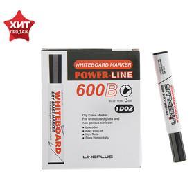 Маркер для доски 3.0 мм, Line Plus 600B, чёрный