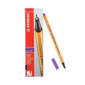 Ручка капиллярная Stabilo point 88, 0.4 мм чернила фиолетовые Ош