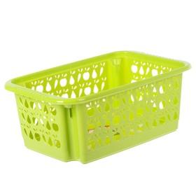 Корзина для овощей «Джета», 17 л, 48×30 см, перфорированная, цвет МИКС Ош